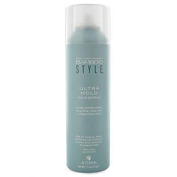 Alterna Лак для волос Ультрасильная фиксация Ultra Hold Hair Spray — 250 мл41714Ultra Hold Hair Spray Лак для волос Ультрасильная фиксация предназначен для создания привлекательной причёски на длительное время. Средство для создания надёжной и красивой причёски нужно каждой современной девушке. Этот лак для волос хорош тем, что моментально быстро высыхает на волосах, сохраняя нужную форму укладки надолго. Преимуществом средства есть то, что оно не содержит всяческих вредных для волос элементов, а, наоборот, состоит и минеральных компонентов. Благодаря отсутствию в составе глютена и парабена волосы будут более сильными и прочными. Органический экстракт бамбука способствует защите кожи головы и каждого волоса от вредных излучений и укладок. Фосфолипиды, входящие в состав лака для волос играют собственную роль. Они улучшают структуру волос, укрепляя и очищая их.
