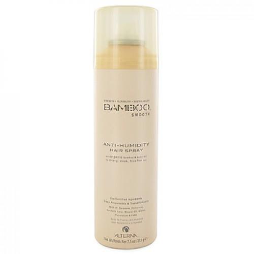 Alterna Полирующий лак для волос Bamboo Smooth Anti-Humidity Hair Spray - 250 мл44710Спрей Alterna Bamboo Smooth Anti-Humidity Hair Spray защищает волосы от внешнего негативного воздействия, благодаря тому, что богато жирными кислотами ряда Омега-3,6,9, антиоксидантами и токоферолами. Масло семян подсолнечника: защита от ультрафиолетовых лучей, придает волосам блеск и разглаживает их. Не утяжеляет волосы. Экстракты: фенхеля, японской васаби, водорослей и моркови. Масло гавайского орехового дерева кукуи: увлажняет волосы и придает им шелковистость. Результат: спрей обладает ультра сухой формулой, обеспечивает волосам защиту от влажного воздуха и придает волосам подвижную фиксацию. В условиях повышенной влажности он действует в виде барьера, помогая предотвратить появления завитков. Не склеивает волосы и не делает их жесткими.