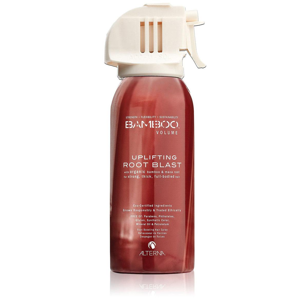 Alterna Невесомый спрей для экстремального объема Bamboo Volume Uplifting Root Blast - 177 мл45410Входящий в состав спрея экстракт бамбука моментально придает волосам силу; экстракт из клубней перуанской Маки — экологически чистый натуральный источник чистых белков, минералов, антиоксидантов и аминокислот — утолщает волосы, обеспечивает невероятную плотность и эластичность, эффективное насыщение питательными веществами и реминерализация создают невесомый динамичный объем. Инновационный суперсухой спрей Alterna Bamboo Volume Uplifting Root Blast для создания и фиксации прикорневого объема не склеивает, не утяжеляет волосы, гарантирует длительный и максимальный прикорневой объем. Результат: Средство используется на сухих волосах и насыщает их невероятным объёмом, придает им полноту и поднимает прямо у корней, придавая объём там, где это так необходимо. Обладает свежим и запоминающимся ароматом - нотки тропического дождя смешиваются с запахом юной листвы бамбука, группу дополняет волнующий ореол белого мускуса.
