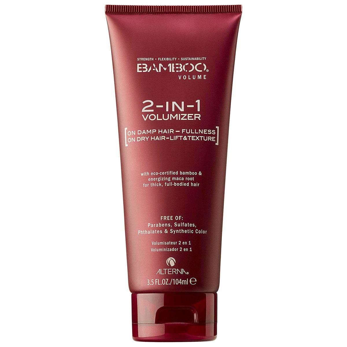 Alterna Крем-паста для волос Генератор объема Bamboo Volume 2-in-1 Volumizer - 104 мл48563Универсальный, многофункциональный стайлинговый продукт для создания объема, который можно использовать как на влажных, так и на сухих волосах. Создает текстуру крема (при нанесении на влажные волосы) или пасты (при нанесении на сухие волосы). Невесомая и нелипкая, формула продукта придает восхитительный объем и создает густоту на ваших волосах. Этот многофункциональный продукт объединяет в себе несколько стайлинговых средств для любителей объема и станет вашим Must Have. Подходит для всех типов волос. Особенно для слабых, безжизненных волос, которым необходим объем и густота. Результат: - Волосы приобретают плотность и объем. - Становятся более здоровыми и сильными.