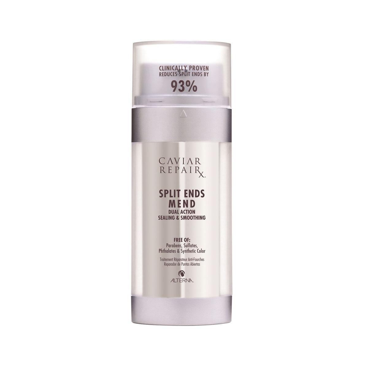 Alterna Двухфазная сыворотка - восстановление секущихся кончиков волос Caviar Repair Rx Split Ends Mend - 30 мл67135Сыворотка восстанавливает и лечит волосы, уменьшает появление первых признаков секущихся кончиков на 93,3% уже после первого применения. Уплотняет и укрепляет пряди, предотвращает ломкость в будущем. Мгновенно впитывается, предотвращает спутывание, а также делает волосы мягкими и шелковистыми. Ее двухфазная формула находится в двух отсеках и смешивается при нанесении, активируясь при этом. Первая формула уплотняет кутикулы, чтобы предотвратить возможные повреждения, а вторая формула разглаживает волосы.