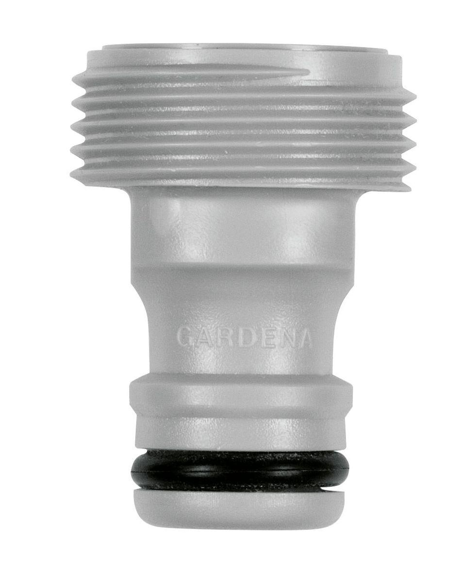 Адаптер Gardena, 3/402921-29.000.00Адаптер Gardena подходит для подключения дождевателей, не имеющих коннектора к базовой системе полива. Наружная резьба - 26,5 мм (G 3/4)
