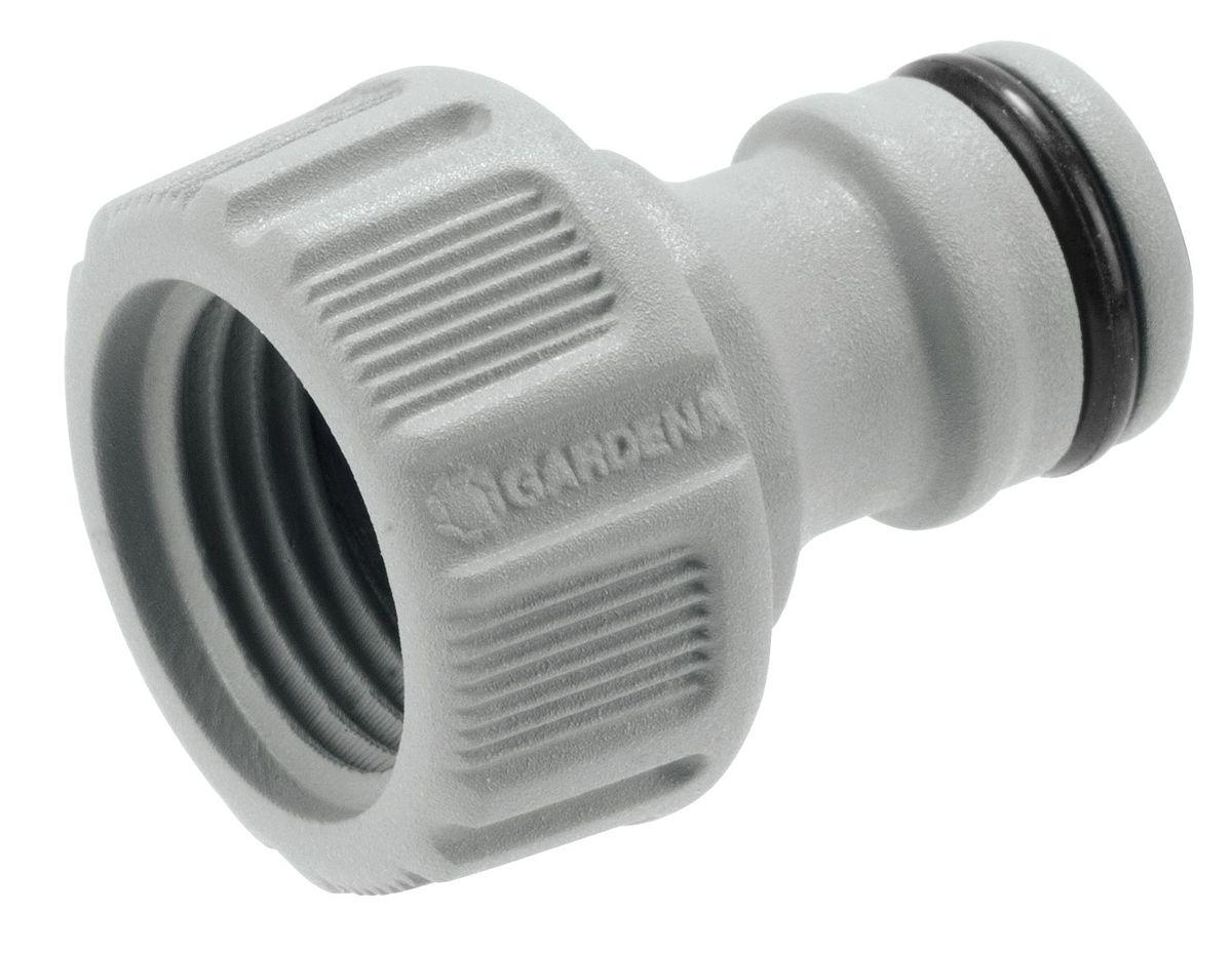 Штуцер резьбовой Gardena, 1/218200-29.000.00Штуцер резьбовой Gardena позволяет быстро и легко нарастить шланг или подключить необходимый аксессуар. Все соединения герметичны. Легко устанавливается и не требует использования инструментов. Для кранов диаметром 16,7 мм (G 3/8) с резьбой 21мм ( G 1/2).