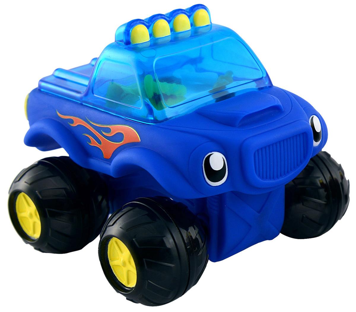 Munchkin Игрушка для ванны Машинка цвет синий11424_синийИгрушка для ванны Munchkin Машинка привлечет внимание вашего малыша и превратит купание в веселую игру. Эта яркая машинка на четырех колесиках со свободным ходом может не только ездить, но и плавать в воде. В кабине грузовика находится множество цветных инструментов, которые гремят во время движения машины, их хорошо видно через прозрачное окно. Игрушка для ванны Munchkin Машинка способствует развитию воображения, цветового восприятия, тактильных ощущений и мелкой моторики рук.