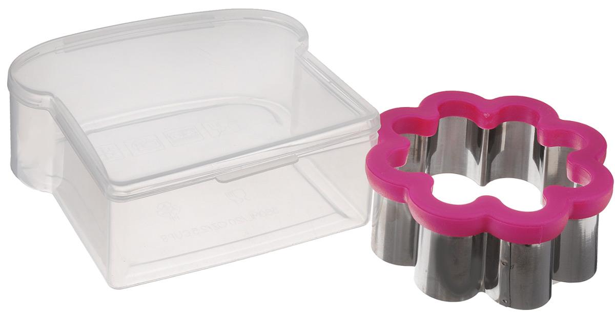 Ланч-бокс Mayer & Boch, с формой для вырезания сэндвичей24005Ланч-бокс Mayer & Boch изготовлен из высококачественного пищевого пластика. Он предназначен для хранения и переноски пищевых продуктов. Ланч-бокс представляет собой прямоугольный контейнер, в котором удобно хранить различные блюда. В комплекте также форма в виде цветка для вырезания сэндвичей, выполненная из нержавеющей стали и пластика. Компактный размер позволит хранить ланч-бокс в любой сумке. Его удобно взять с собой на работу, отдых, в поездку. Теперь любимая домашняя еда всегда будет под рукой, а яркий дизайн поднимет настроение и подарит заряд позитива. Можно использовать в микроволновой печи и для хранения пищи в холодильнике, можно мыть в посудомоечной машине. Объем ланч-бокса: 0,5 л. Размер ланч-бокса: 14 х 13 х 5,5 см. Размер формы для вырезания сэндвичей: 10,5 х 10,5 х 4,5 см.