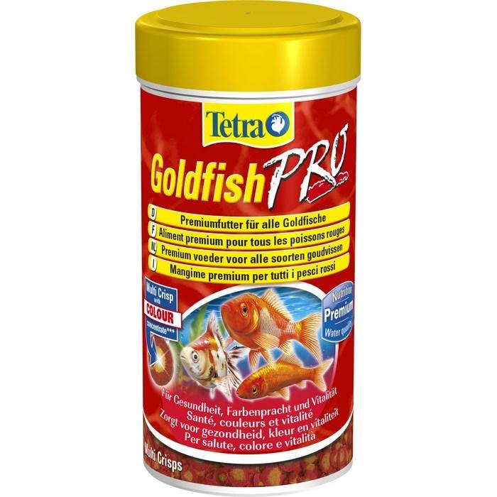 Корм для золотых рыбок Tetra Goldfish Pro, в виде чипсов, 100 мл (20 г)147843Корм для золотых рыбок Tetra Goldfish Pro - это высококачественный сбалансированный питательный корм для всех видов золотых рыбок, а также других видов холодноводных рыб. Корм обладает высокой пищевой ценностью, благодаря низкотемпературной технологии изготовления. Запатентованная БиоАктив-формула стимулирует здоровое состояние иммунной системы и обеспечивает высокую продолжительность жизни. Оптимизированный коэффициент соотношения протеинов и жиров обеспечивает лучшее усвоение питательных веществ и гарантирует улучшение пищеварительного процесса. Это, в свою очередь, понижает уровень загрязнения воды и уменьшает рост водорослей. Новая формула универсальных чипсов: - желтая середина содержит криль для усиления естественной окраски и поддержания мышечного развития; - в красном ободке содержатся питательные элементы; - жирные кислоты омега-3 обеспечивают здоровый рост; - содержит креветки для улучшения вкуса. Кормите...