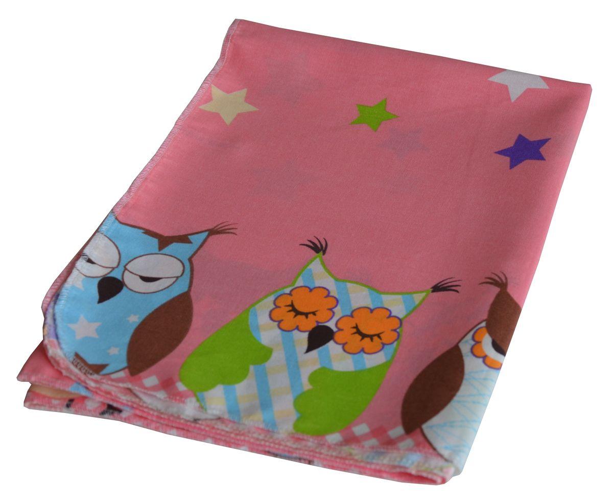 Bonne Fee Простыня детская Совы цвет розовый 110 х 140ОПРС-110х140 розПростыня Гномики выполнен из натурального и экологически чистого 100% хлопка.