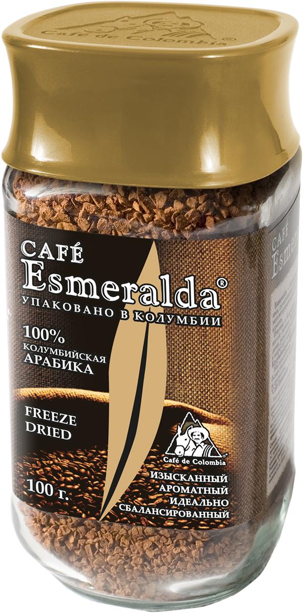 Cafe Esmeralda сублимированный кофе, 100 г571314Кофе Cafe Esmeralda произведен и упакован на самой современной в мире фабрике сублимированного кофе Liofilizado в Колумбии под строгим контролем Национальной Федерации производителей кофе Колумбии. Обработка по технологии Freeze Dried - быстрая заморозка в вакууме - сохраняет максимум вкуса и аромата, как у молотого кофе. Дополнительно кофейные кристаллы обрабатываются специальным кофейным маслом, что предотвращает их рассыпание. Кофе произведен из зерен 100% колумбийской арабики. Обладает особенно крепким вкусом и насыщенным ароматом.