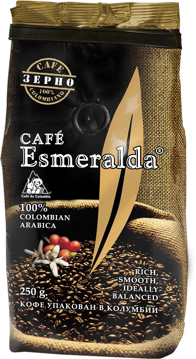 Cafe Esmeralda кофе в зернах, 250 г232536Кофе Cafe Esmeralda произведен и упакован в Колумбии из отборного зерна класса Excellso. Средняя обжарка зерна (City roast) позволяет раскрыть все оттенки вкуса и аромата свежего кофе. При заваривании кофе обладает мягким насыщенным вкусом с восхитительной винно-фруктовой кислинкой и образует пышную кофейную пену. Чашка утреннего кофе с ярким, гармоничным ароматом зарядит вас бодростью и энергией на весь день!