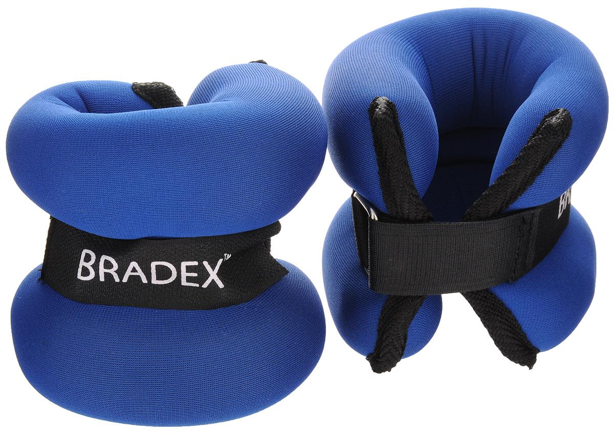 Утяжелители Bradex, 2х1 кгSF 0015Утяжелители Bradex придадут мышцам дополнительную нагрузку, превышающую обычный уровень их напряжения во время упражнений. Вы можете надевать их, занимаясь ходьбой, бегом, гимнастикой. Эти утяжелители прочно и комфортно крепятся на запястьях и лодыжках, обеспечивая серьезную нагрузку, совершенно не сковывая движения. Таким образом, тренировке придается аэробный эффект, в умеренных количествах благотворно влияющий на состояние сердца. Используя утяжелители, вы повысите результативность упражнений, быстрее избавитесь от лишнего веса, подготовите тело к усложненной программе тренировок. Утяжелители фиксируются благодаря липучкам.