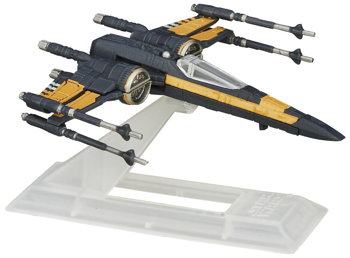 Star Wars Космический корабль The Black Series Poes X-Wing FighterB3929EU4_B4581Космический корабль Poes X-Wing Fighter непременно приведет в восторг поклонника фантастической саги Звездные воины. Несмотря на свои миниатюрные размеры, корабль является точной копией оригинала. Этот корабль проработан с поражающей воображение детализацией, включая рельефные поверхности, оружие и цвета. Все это сделает игру реалистичной и разнообразной. В комплекте космический корабль и подставка. Такая игрушка непременно понравится поклоннику Звездных войн и станет замечательным украшением любой коллекции. Создайте свой галактический флот с космическим кораблем из любимого фильма! Порадуйте своего ребенка такой необычной игрушкой!