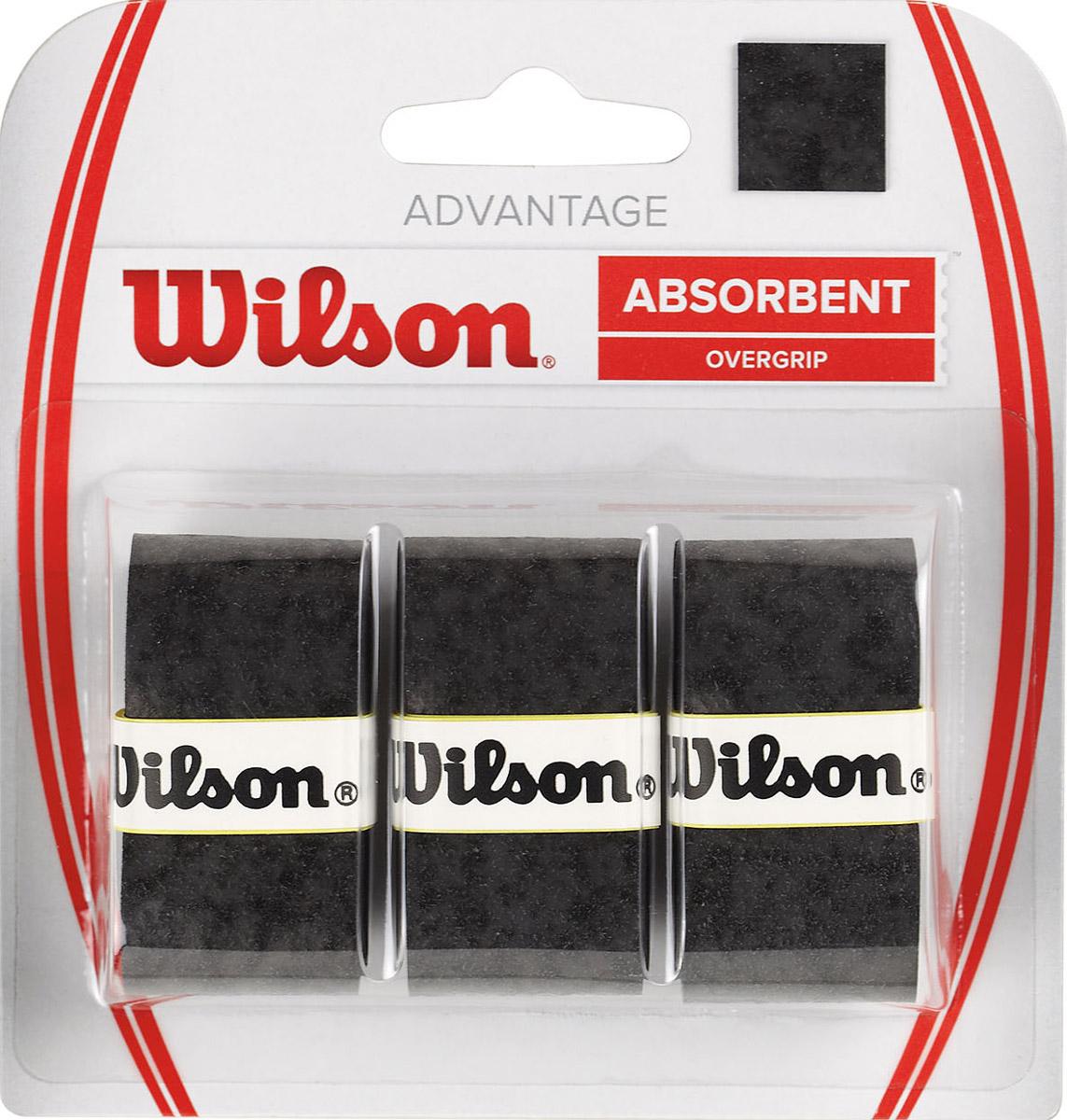 Намотка Wilson Advantage Overgrip Bk 3Pk ( WRZ4033BK )