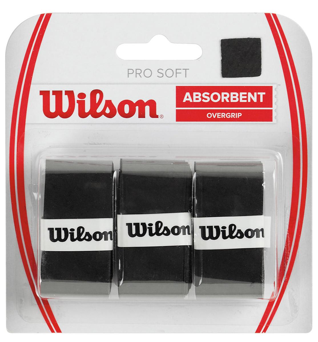 Намотка Wilson Pro Soft Overgrip Bk ( WRZ4040BK )