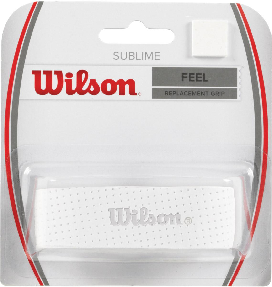 Базовая намотка Wilson Sublime Grip WhWRZ4202WHОсновная - базовая намотка. Максимальное чувство ракетки в руках спортсмена.