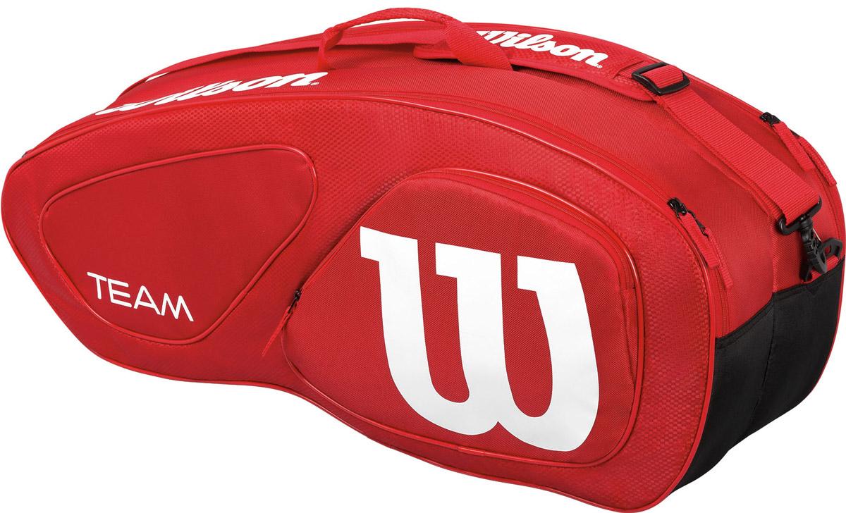 Сумка Wilson Team Ii 6Pk Bag RdWRZ857606Специализированная теннисная сумка на 6 ракеток.