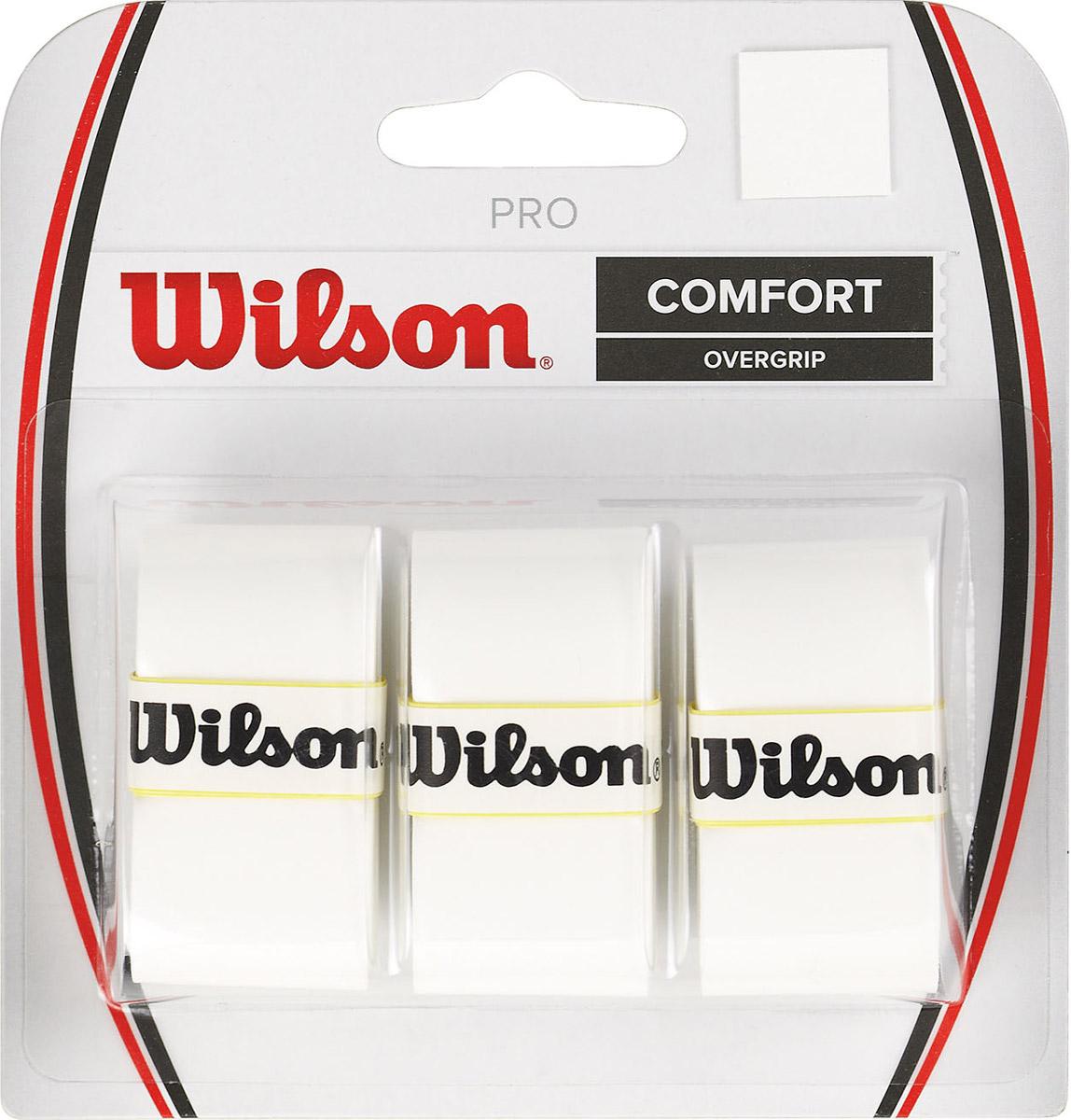 Намотка Wilson Pro Overgrip WhWRZ4014WHБестселлер. Намотка сменная универсальная для всех видов ракеток. Впитывает влагу и позволяет комфортно проводить тренировки и участвовать в турнирах всех уровней.