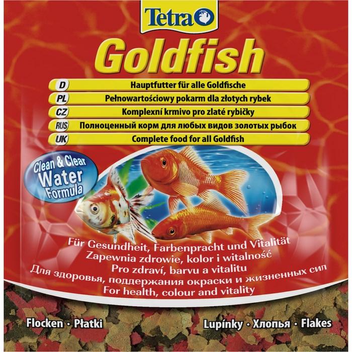 Корм для золотых рыбок Tetra Goldfish, хлопья, 12 г766389Корм Tetra Goldfish - высококачественный сбалансированный корм в хлопьях для всех видов золотых рыбок, а также других видов холодноводных рыб. Корм улучшает здоровье, жизненную силу и делает окрас ярче. Тщательно подобранная смесь высокопитательных ингредиентов с витаминами, минералами и микроэлементами для полноценного питания. Запатентованная БиоАктив-формула поддерживает здоровую иммунную систему. Формула Clean & Clear Water улучшает усвояемость корма и сокращает количество экскрементов рыб, обеспечивая чистоту и прозрачность воды. Кормить несколько раз в день небольшими порциями. Состав: рыба и побочные рыбные продукты, зерновые культуры, дрожжи, экстракты растительного белка, моллюски и раки, масла и жиры, сахар, водоросли. Аналитические компоненты: сырой белок 42%, сырые масла и жиры 11%, сырая клетчатка 2%, влага 6,5%. Добавки: витамины, провитамины и химические вещества с аналогичным воздействием: витамин A 29100 МЕ/кг,...