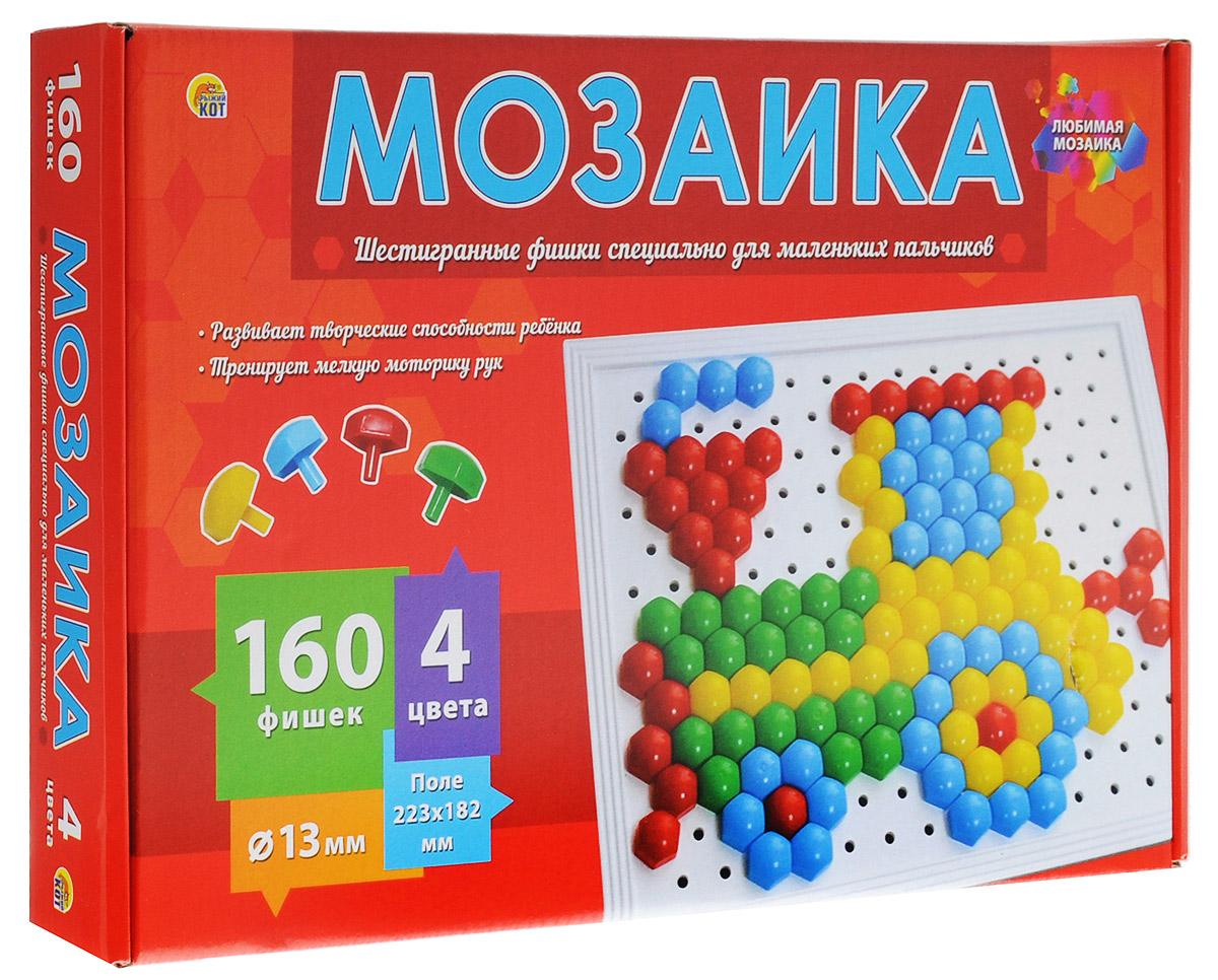 Рыжий Кот Мозаика 160 фишекМ-0285Детская мозаика Рыжий Кот станет замечательной игрушкой для вашего ребенка и не позволит ему заскучать! Она прекрасно развивает творческое воображение, абстрактное и логическое мышление, внимание, мелкую моторику рук, а также учит различать цвета и оттенки. Мозаика понравится ребенку яркими деталями, хорошим качеством и разными вариантами складывания изображений. Она станет увлекательным и полезным занятием для детей! Для детей от трех лет. В набор входит игровое поле размером 22,3 см х 18,2 см и 160 фишек четырех цветов.