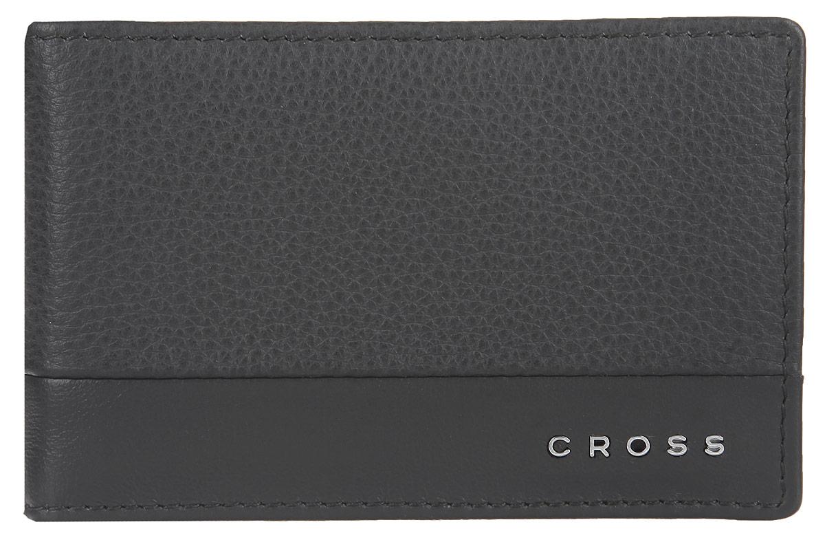 Зажим для купюр мужской Cross, цвет: серый. AC028377-3AC028377-3Стильный зажим для купюр Cross, изготовлен из натуральной кожи с зернистой фактурой, оформлен металлической фурнитурой с символикой бренда. Изделие раскладывается пополам. Внутри расположены шесть карманов для пластиковых карт и зажим для купюр. Снаружи, на задней стороне изделия, расположен карман с сетчатой вставкой. Компактный зажим для купюр станет практичным аксессуаром, который подчеркнет ваш стиль.
