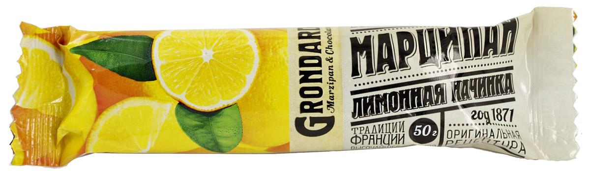 Grondard Marzipan батончик марципановый с лимоном, 50 г