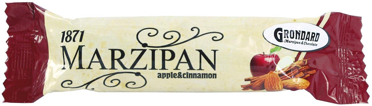 Grondard Marzipan батончик марципановый с яблоком и корицей, 50 г 14049