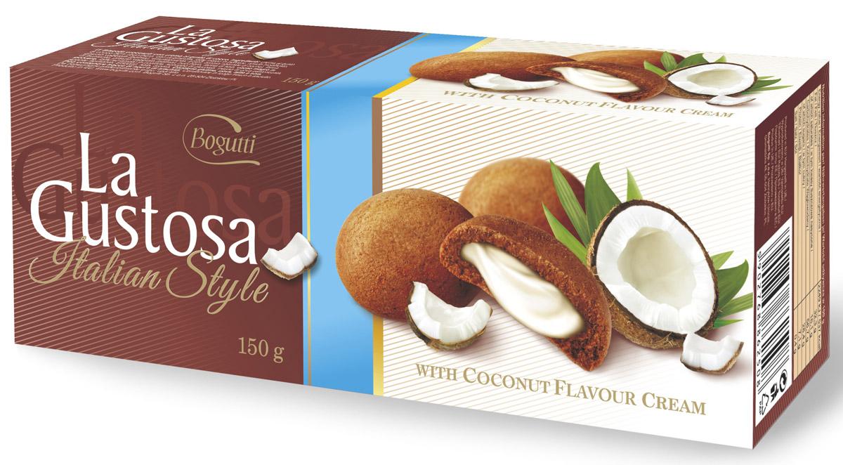 Bogutti La Gustosa печенье с кокосовым кремом, 150 г ( 13934 )