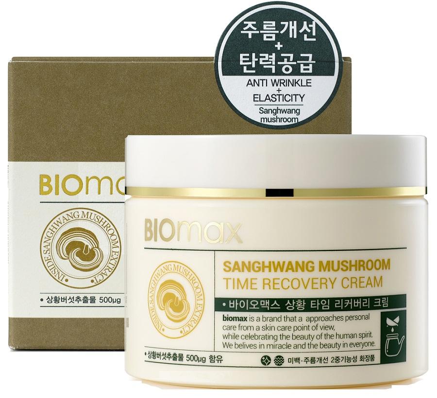 BioMax Антивозрастной крем с экстрактом гриба санхван, 100 мл880334802620Экстракт гриба санхван обладает сильным имуностимулирующим и противовоспалительным действием, а также сокращает признаки преждевременного увядания кожи. Крем интенсивно питает и восстанавливает кожу, обладает антиоксидантным эффектом. Увлажнение достигается путем активизации коллагена. Ниацинамид – повышает тонус кожи и выравнивает тон лица. Аденозин – борется с первыми признаками возрастных изменений кожи. Экстракты корня имбиря и корня женьшеня - способствуют восстановлению кожи.