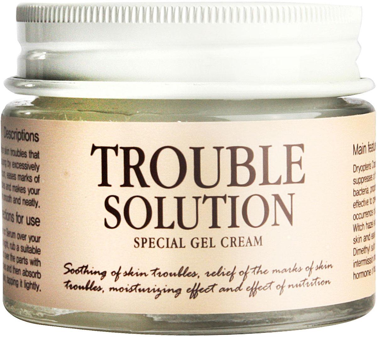 Graymelin Гель-крем для проблемной кожи Trouble Solution Special Gel Cream, 50 г8809071361476Серия средств для проблемной кожи лица Trouble Solution Special содержит комплекс растительных экстрактов, которые эффективно борются с воспалениями. Экстракт листьев алоэ интенсивно увлажняет и успокаивает чувствительную проблемную кожу. Сок кипарисовика туполистного обладает антибактериальным и очищающим действием. Он содержит большой процент минералов и витаминов и насыщает кожу полезными элементами. Бета-глюкан повышает кожный иммунитет и препятствует развитию воспалений. Гель-крем смягчает и увлажняет кожу, препятствуя развитию воспалений. Средство на 80% состоит из растительных компонентов и минимизирует риск развития аллергических реакций и появление раздражений. Серия средств для проблемной кожи лица Trouble Solution Special содержит комплекс растительных экстрактов, которые эффективно борются с воспалениями