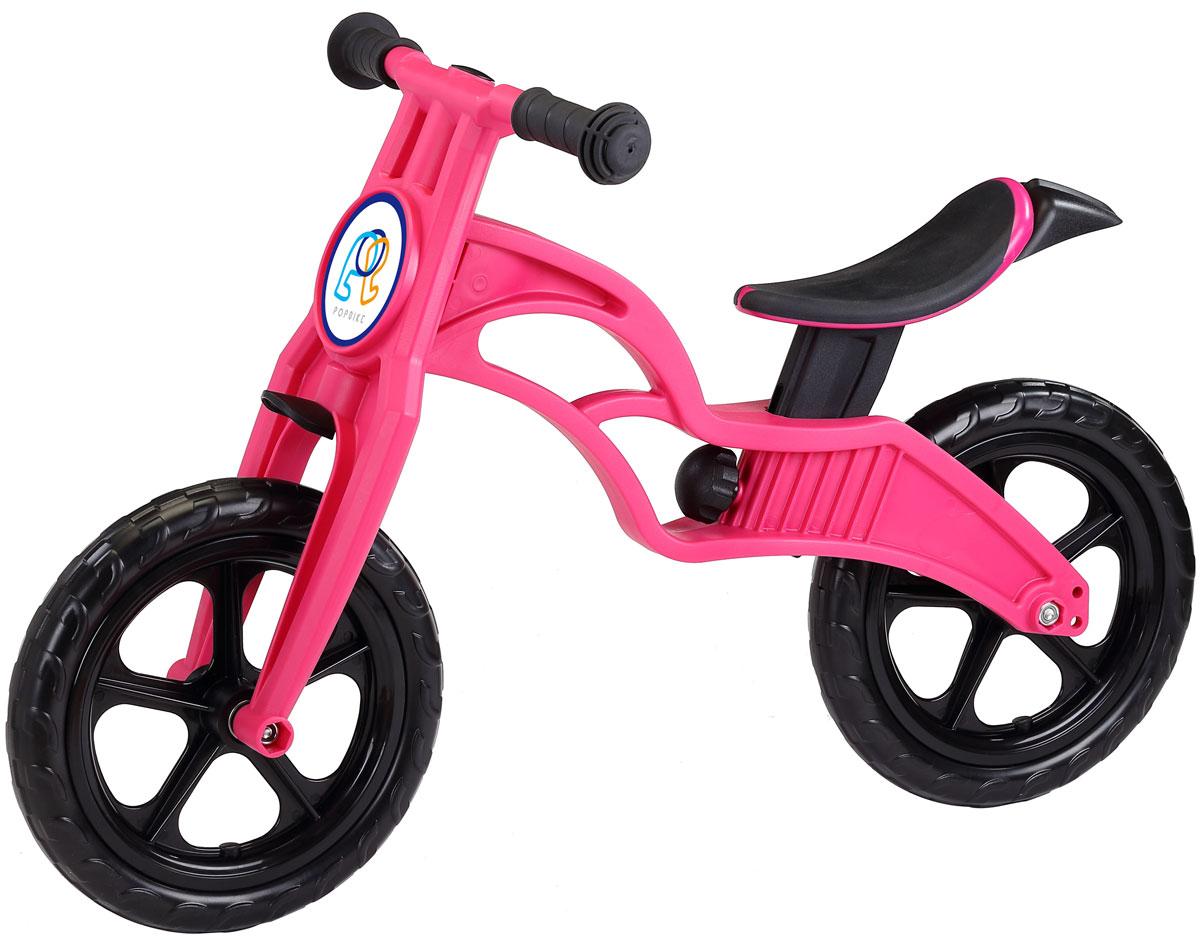 """Pop Bike Детский беговел Sprint с бескамерными колесами цвет розовыйSM-300-1-MAGENTAДетский беговел Pop Bike Sprint c бескамерными колесами ОСОБЕННОСТИ: - Сверхлёгкая рама и вилка из композитного материала (прорезиненная мягкая пластмасса soft-touch). Рама изготовлена по специальной технологии, благодаря чему она прочнее аналогов на 30%. Ребёнок может сам переносить свой беговел. - Прорезиненное комфортное сиденье с лёгкой регулировкой по высоте (для детей ростом от 85см, на возраст от 2 лет). - Мягкие комфортные грипсы с защитными бар-эндами. - Переднее и заднее мини-крылья в комплекте. - Бескамерные колеса размером 12"""". - Простая и быстрая сборка. Все необходимые ключи в комплекте. - Большой выбор аксессуаров. - Удобная и компактная упаковка."""