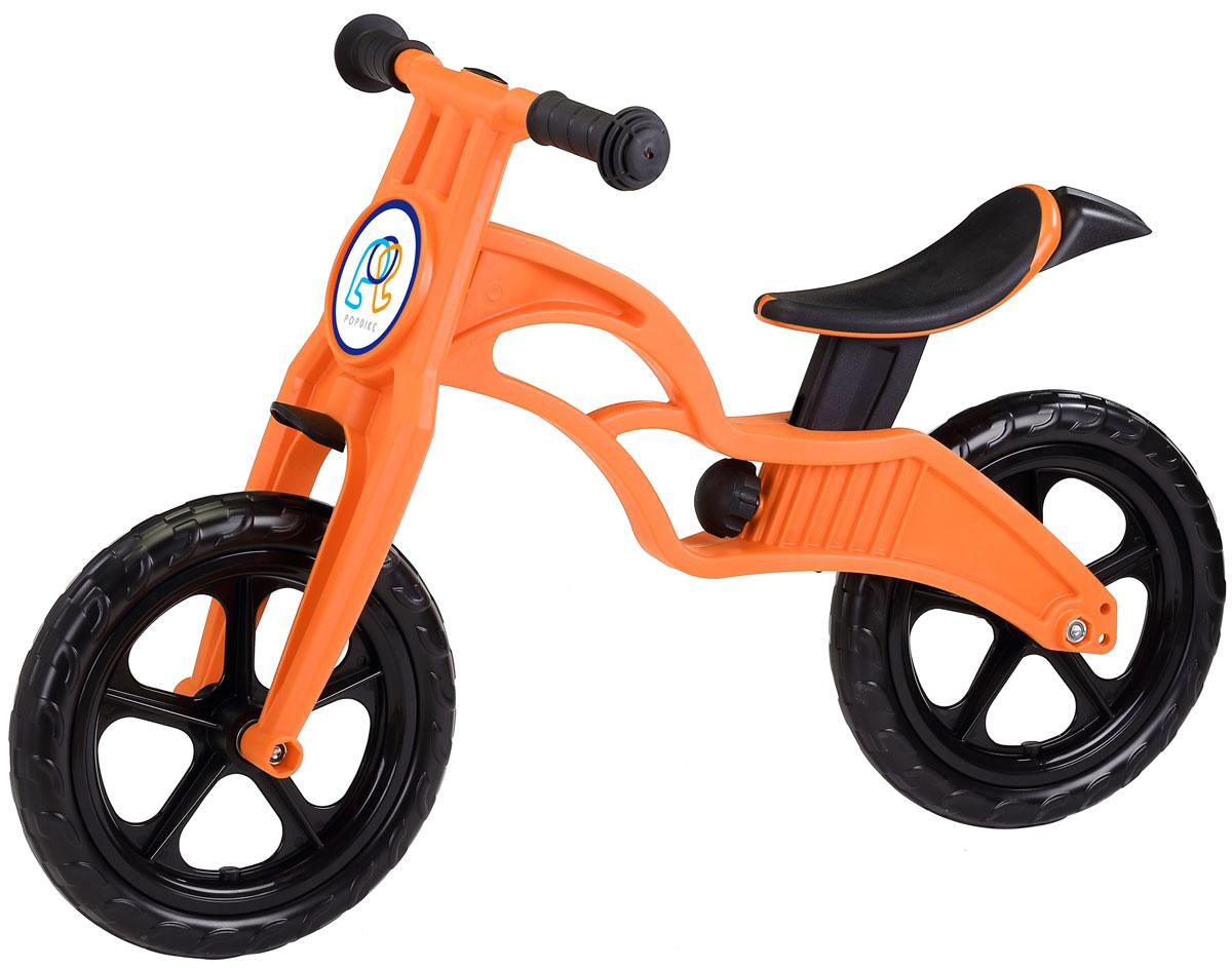 """Pop Bike Детский беговел Sprint с бескамерными колесами цвет оранжевыйSM-300-1-ORANGEДетский беговел Pop Bike Sprint c бескамерными колесами ОСОБЕННОСТИ: - Сверхлёгкая рама и вилка из композитного материала (прорезиненная мягкая пластмасса soft-touch). Рама изготовлена по специальной технологии, благодаря чему она прочнее аналогов на 30%. Ребёнок может сам переносить свой беговел. - Прорезиненное комфортное сиденье с лёгкой регулировкой по высоте (для детей ростом от 85см, на возраст от 2 лет). - Мягкие комфортные грипсы с защитными бар-эндами. - Переднее и заднее мини-крылья в комплекте. - Бескамерные колеса размером 12"""". - Простая и быстрая сборка. Все необходимые ключи в комплекте. - Большой выбор аксессуаров. - Удобная и компактная упаковка."""