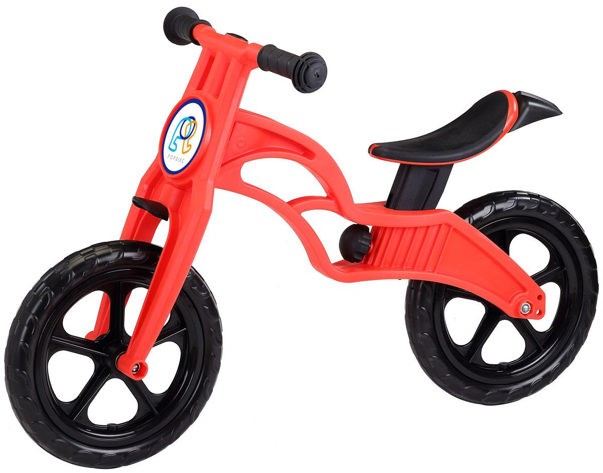 """Pop Bike Детский беговел Sprint с бескамерными колесами цвет красныйSM-300-1-REDДетский беговел Pop Bike Sprint c бескамерными колесами ОСОБЕННОСТИ: - Сверхлёгкая рама и вилка из композитного материала (прорезиненная мягкая пластмасса soft-touch). Рама изготовлена по специальной технологии, благодаря чему она прочнее аналогов на 30%. Ребёнок может сам переносить свой беговел. - Прорезиненное комфортное сиденье с лёгкой регулировкой по высоте (для детей ростом от 85см, на возраст от 2 лет). - Мягкие комфортные грипсы с защитными бар-эндами. - Переднее и заднее мини-крылья в комплекте. - Бескамерные колеса размером 12"""". - Простая и быстрая сборка. Все необходимые ключи в комплекте. - Большой выбор аксессуаров. - Удобная и компактная упаковка."""