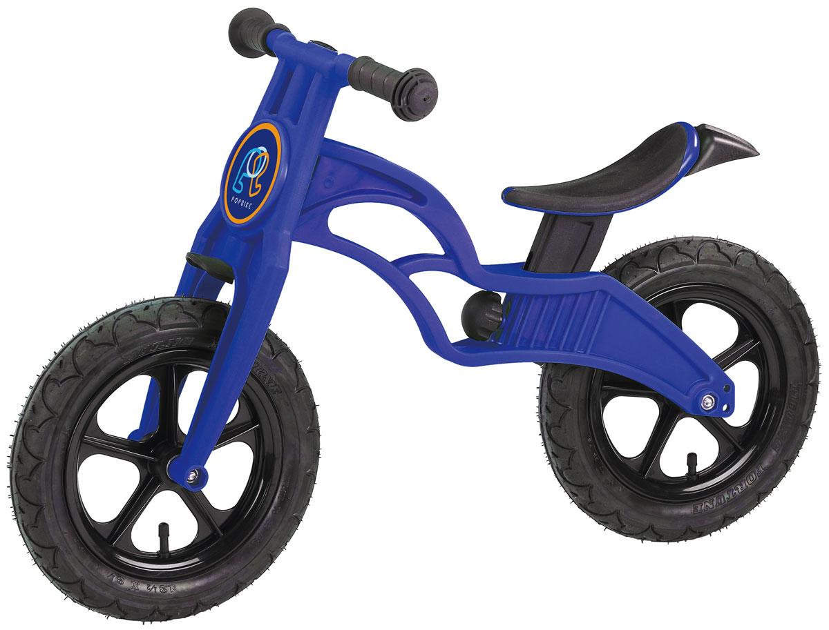 """Pop Bike Детский беговел Flash с надувными колесами цвет синийSM-300-2-BLUEДетский беговел Pop Bike Flash c надувными колесами ОСОБЕННОСТИ: - Сверхлёгкая рама и вилка из композитного материала (прорезиненная мягкая пластмасса soft-touch). Рама изготовлена по специальной технологии, благодаря чему она прочнее аналогов на 30%. Ребёнок может сам переносить свой беговел. - Прорезиненное комфортное сиденье с лёгкой регулировкой по высоте (для детей ростом от 85см, на возраст от 2 лет). - Мягкие комфортные грипсы с защитными бар-эндами. - Переднее и заднее мини-крылья в комплекте. - Надувные колеса размером 12"""". - Простая и быстрая сборка. Все необходимые ключи в комплекте. - Большой выбор аксессуаров. - Удобная и компактная упаковка."""