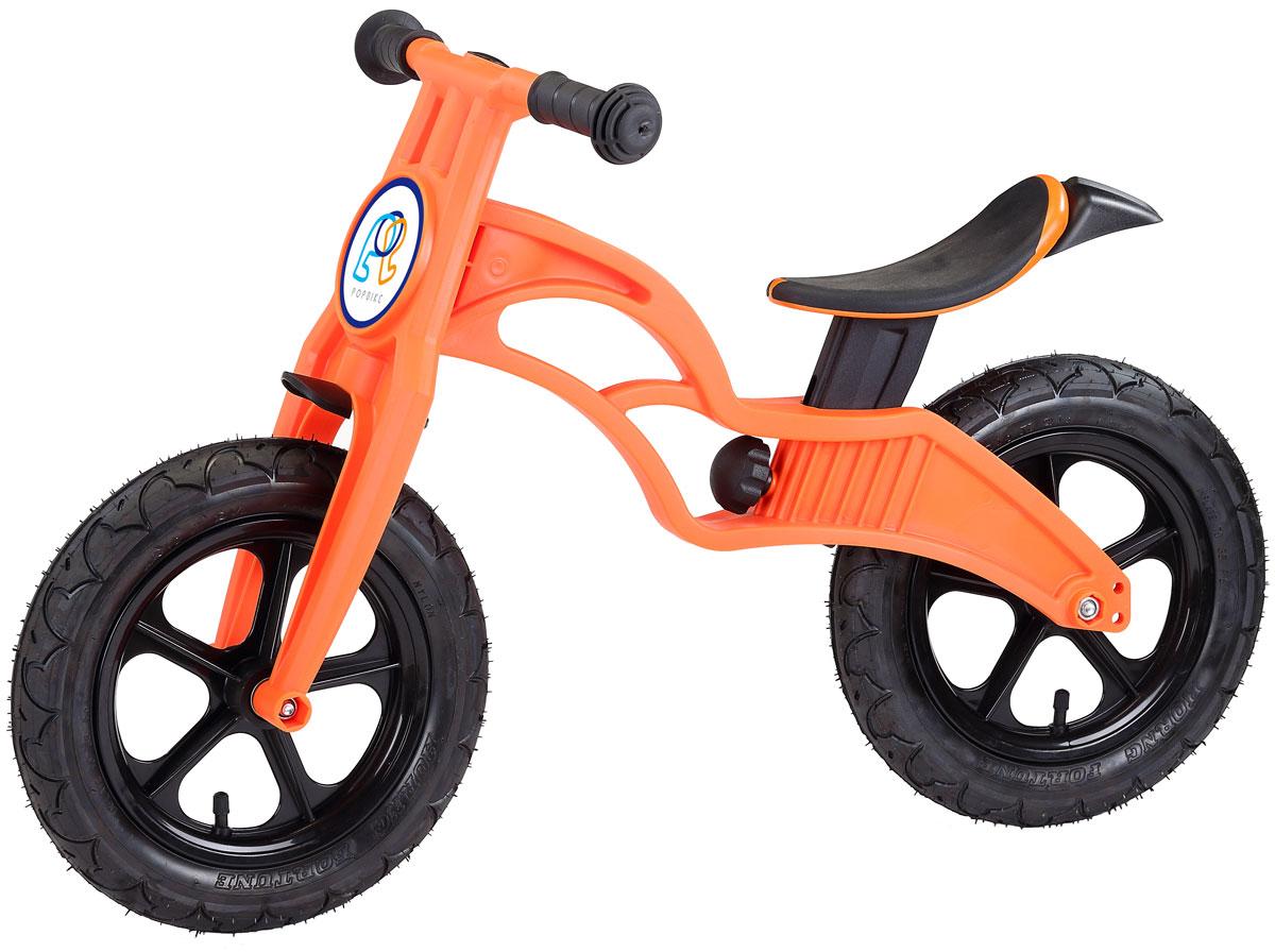 Pop Bike Детский беговел Flash c надувными колесами цвет оранжевый