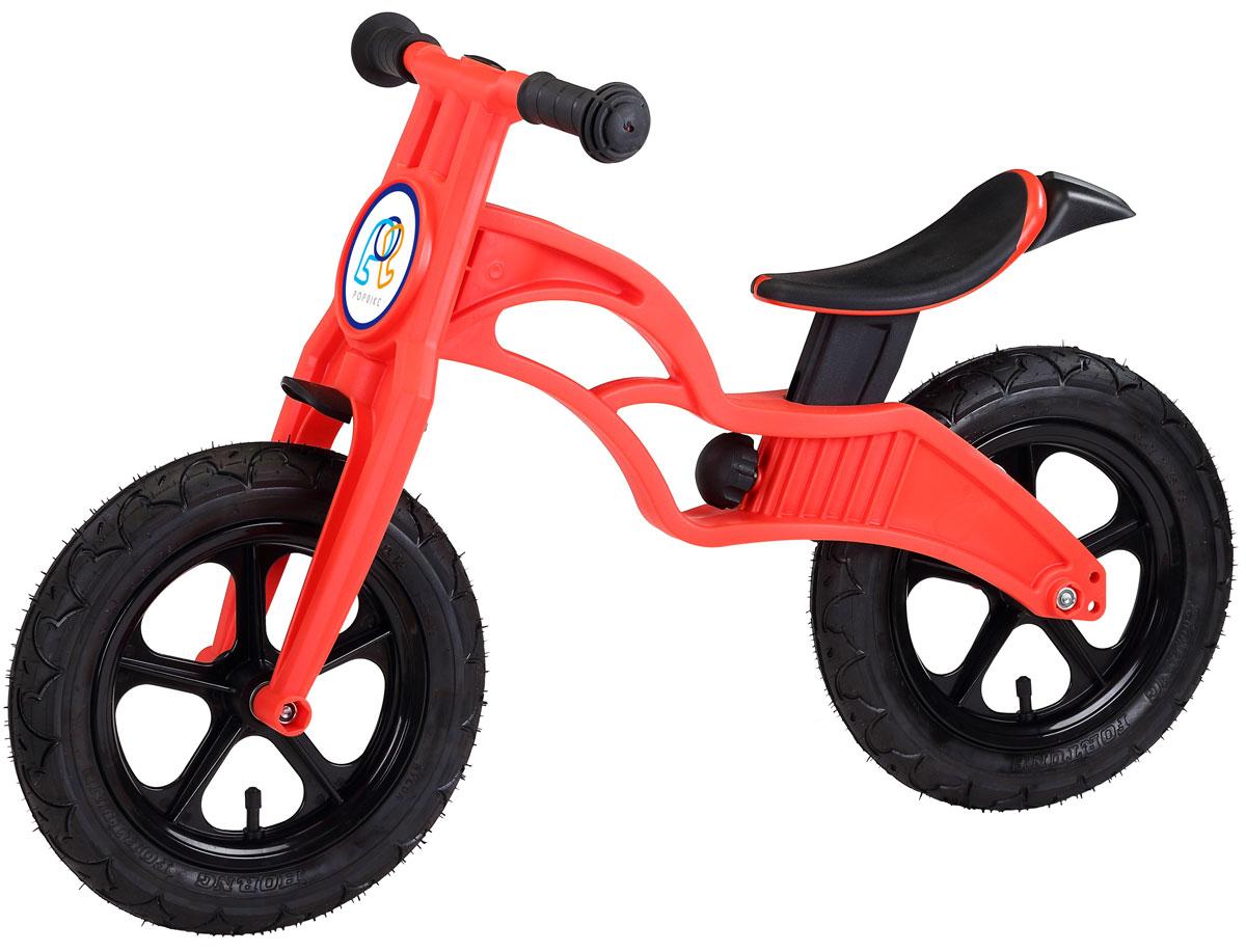 """Pop Bike Детский беговел Flash c надувными колесами цвет красныйSM-300-2-REDДетский беговел Pop Bike Flash c надувными колесами ОСОБЕННОСТИ: - Сверхлёгкая рама и вилка из композитного материала (прорезиненная мягкая пластмасса soft-touch). Рама изготовлена по специальной технологии, благодаря чему она прочнее аналогов на 30%. Ребёнок может сам переносить свой беговел. - Прорезиненное комфортное сиденье с лёгкой регулировкой по высоте (для детей ростом от 85 см, на возраст от 2 лет). - Мягкие комфортные грипсы с защитными бар-эндами. - Переднее и заднее мини-крылья в комплекте. - Надувные колеса размером 12"""". - Простая и быстрая сборка. Все необходимые ключи в комплекте. - Большой выбор аксессуаров. - Удобная и компактная упаковка."""