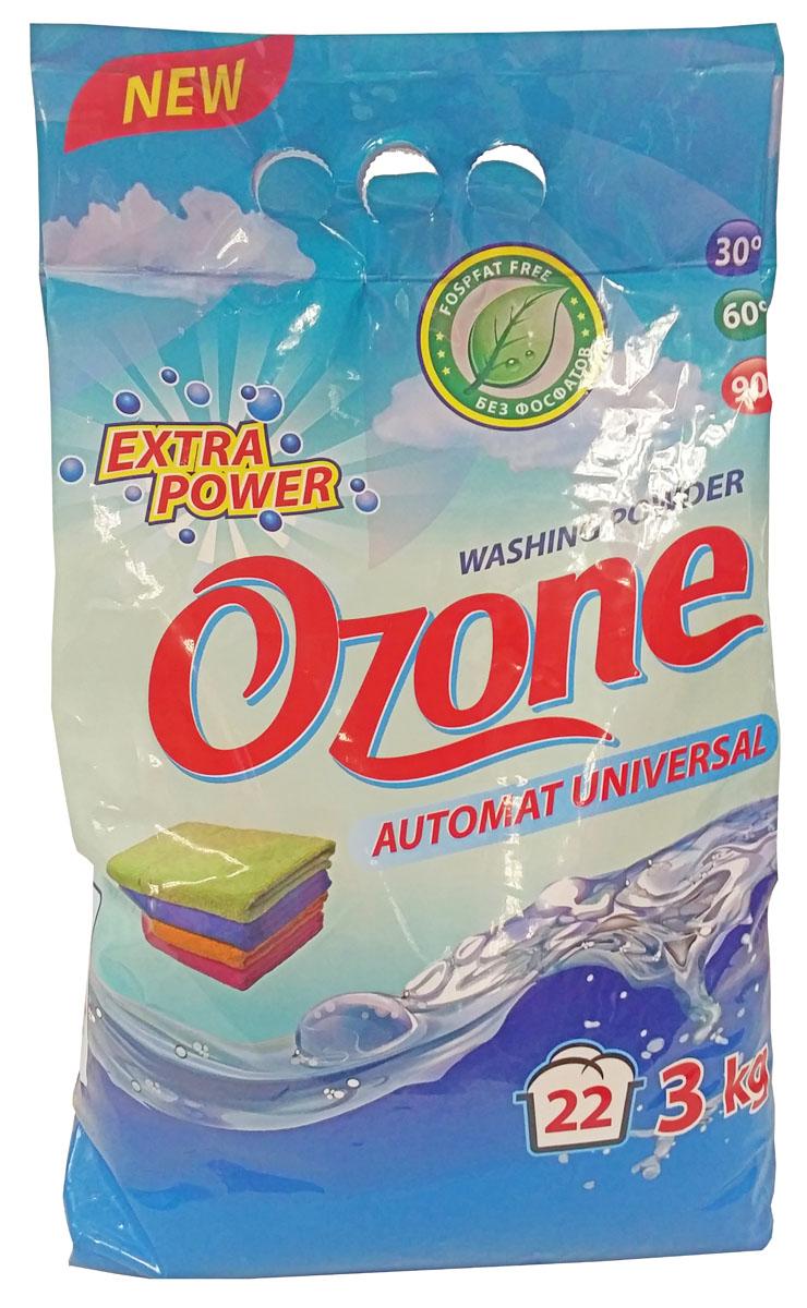 Универсальный стиральный порошок Ozone без фосфатов, 3 кг0065Стиральный порошок - предназначен для стирки всех типов тканей за исключением шерсти и шелка. Подходит для ручной стирки