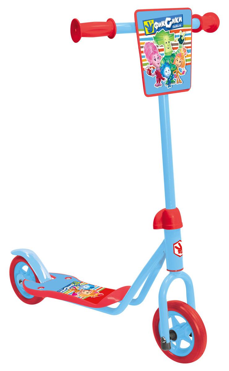 1TOY Самокат двухколесный Фиксики цвет красный голубойТ58411Самокат двухколесный с популярной лицензией Фиксики, с передним щитком и тормозом