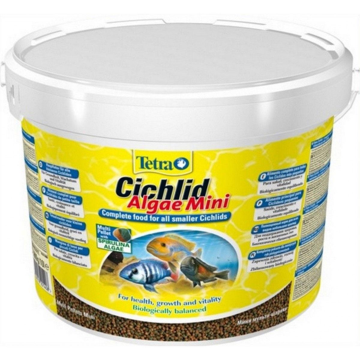 Корм сухой Tetra Cichlid. Algae Mini для всех видов небольших цихлид, гранулы, 10 л (3,9 кг)201408Полноценный растительный корм Tetra Cichlid. Colour Mini для всех видов небольших цихлид разработан для поддержания здоровья, роста и красивого окраса. Особенности Tetra Cichlid. Colour Mini - богатое содержание высококачественного белка и других питательных веществ удовлетворяет потребности в питании; - новая форма корма в виде шариков с полезным концентратом содержит природные усилители цвета для яркой окраски всех видов красных, оранжевых и желтых циклид; - маленький размер корма подходит для небольших цихлид; - новая формула корма с полезным концентратом содержит водоросли спирулина, обеспечивающие яркую окраску и придающие жизненные силы; - запатентованная формула BioActive - для поддержания здоровья и продолжительной жизни. Рекомендации по кормлению: кормить несколько раз в день маленькими порциями. Состав: зерновые культуры, экстракты растительного белка, рыба и побочные рыбные продукты, дрожжи, моллюски и...
