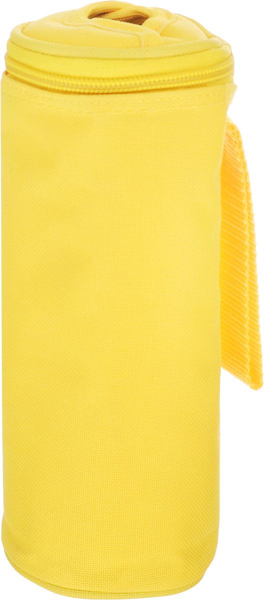 Сумка-холодильник для бутылок Tescoma Coolbag, цвет: желтый, 8,5 х 8,5 х 22 см892310_желтыйСумка-холодильник Tescoma Coolbag, изготовленная из прочного полиэстера и предназначена для сохранения температуры напитков. Сумка-холодильник имеет одно вместительное отделение. Благодаря отверстию для горлышка, емкость можно открыть в любое время, не доставая ее из сумки. Изделие идеально подходит для ПЭТ бутылок объемом 0,5 литра. Внутри сумки расположена теплоизолирующая подкладка из алюминиевой фольги. Сумка закрывается на молнию и имеет ремень для удобной переноски. Она прекрасно подходит для походов на пляж, пикников и поездок за город. С такой сумкой напитки дольше остаются охлажденными. Рекомендуется только ручная стирка. Использование в посудомоечной машине и глажка запрещены. Размер сумки-холодильника: 8,5 х 8,5 х 22 см.