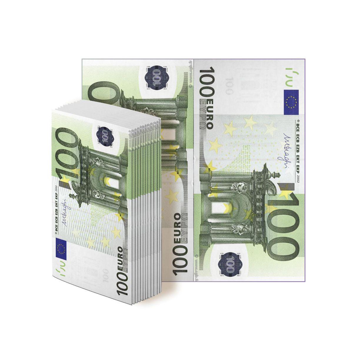 Салфетки бумажные Gratias 100 евро , трехслойные, 33 см91615