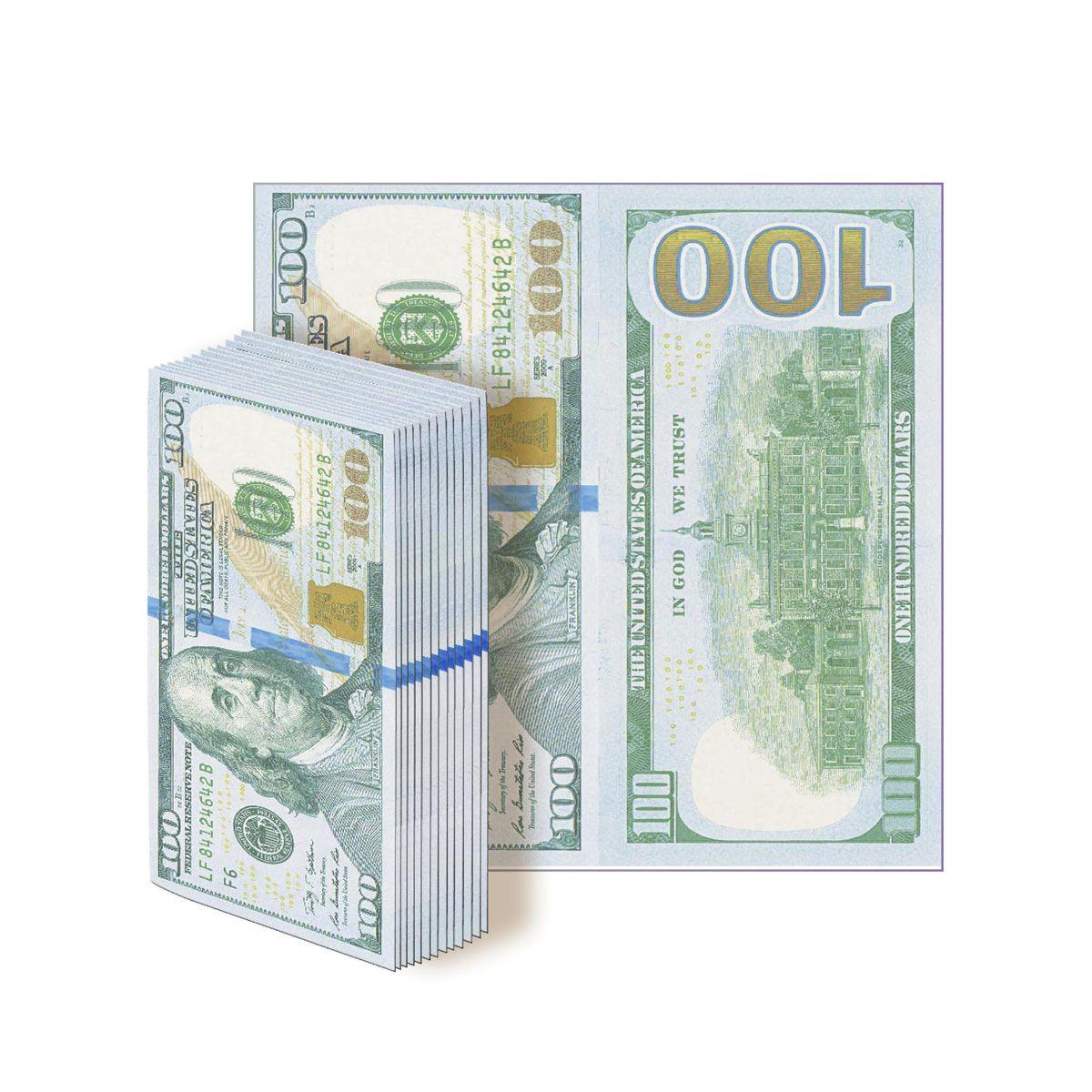 Салфетки бумажные Gratias  100 долларов, трехслойные, 33 см91639