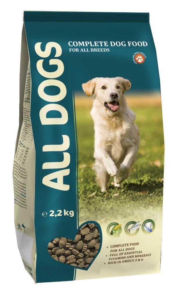 Корм сухой полнорационный для взрослых собак ALL DOGS 2,2 кг6721Гарантируемые показатели. сырой протеин - 22 % сырой жир - 10 % сырая клетчатка - 4 % сырая зола – 8 % кальций – 1,4 % фосфор – 1,1 % Энергетическая ценность- 327 ккал/100 г. Перечень компонентов, входящих в рецептуру. злаки, мясо и продукты животного происхождения, овощи, масла и жиры, рыба и рыбные субпродукты (источник Омега-3 и Омега-6 жирных кислот), минеральные вещества и витамины.