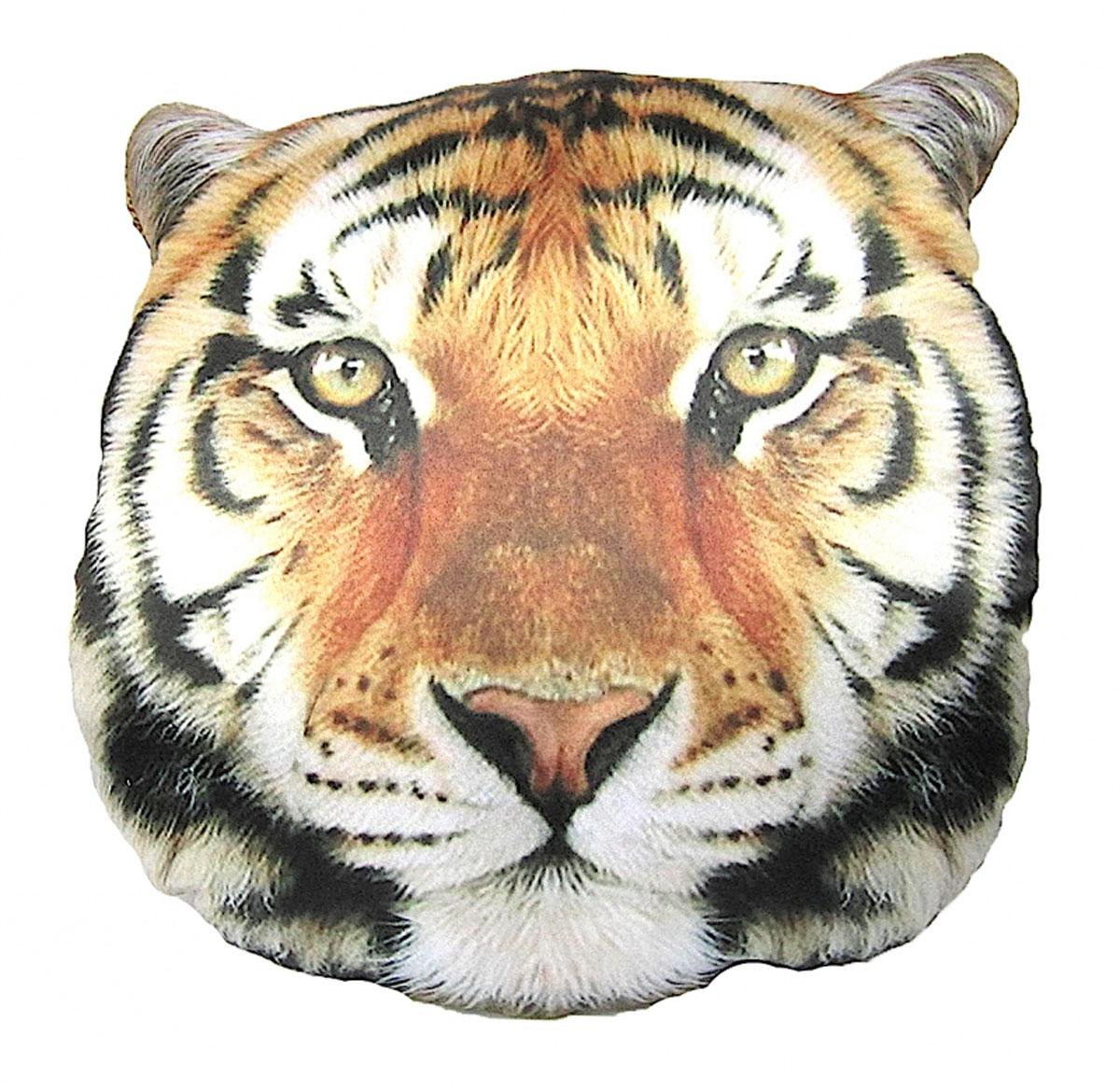 Подушка декоративная GiftnHome Тигр, 40 x 40 смPLW-Face ТигрПодушка декоративная GiftnHome, выполненная в виде морды тигра, прекрасно дополнит интерьер спальни или гостиной. Чехол подушки изготовлен из атласа (искусственный шелк). В качестве наполнителя используется мягкий холлофайбер. Чехол снабжен потайной застежкой-молнией, благодаря чему его легко можно снять и постирать. Красивая подушка создаст атмосферу уюта в доме и станет прекрасным элементом декора.