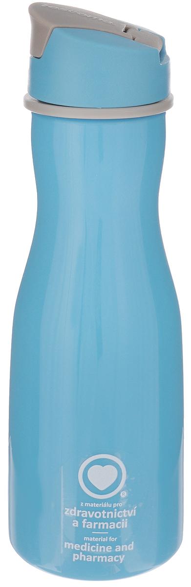 Бутылка для воды Tescoma Purity, цвет: голубой, 700 мл891982_голубойСтильная бутылка для воды Tescoma Purity, изготовленная из высококачественного пластика, оснащена съемным текстильным ремешком и крышкой с силиконовым уплотнителем, которая плотно и герметично закрывается, сохраняя свежесть и изначальную температуру напитка. Изделие прекрасно подойдет для использования в жаркую погоду: вода долго сохраняет первоначальные свойства и вкусовые качества. При необходимости в бутылку можно наливать витаминизированные напитки, фруктовые соки, чай или протеиновые коктейли. Такую бутылку можно без опаски положить в рюкзак, закрепить на поясе или велосипедной раме. Она пригодится как на тренировках, так и в походах или просто на прогулке. Бутылку разрешено кипятить и мыть в посудомоечной машине. Изделие можно использовать в холодильнике и микроволновой печи. Ремешок и крышку не рекомендуется мыть в посудомоечной машине. Диаметр горлышка бутылки: 5 см. Диаметр основания: 8 см. Высота...