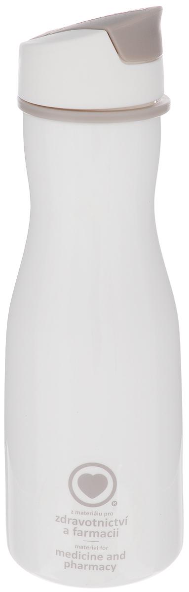 Бутылка для воды Tescoma Purity, цвет: белый, 700 мл891982_белыйСтильная бутылка для воды Tescoma Purity, изготовленная из высококачественного пластика, оснащена съемным текстильным ремешком и крышкой с силиконовым уплотнителем, которая плотно и герметично закрывается, сохраняя свежесть и изначальную температуру напитка. Изделие прекрасно подойдет для использования в жаркую погоду: вода долго сохраняет первоначальные свойства и вкусовые качества. При необходимости в бутылку можно наливать витаминизированные напитки, фруктовые соки, чай или протеиновые коктейли. Такую бутылку можно без опаски положить в рюкзак, закрепить на поясе или велосипедной раме. Она пригодится как на тренировках, так и в походах или просто на прогулке. Бутылку разрешено кипятить и мыть в посудомоечной машине. Изделие можно использовать в холодильнике и микроволновой печи. Ремешок и крышку не рекомендуется мыть в посудомоечной машине. Диаметр горлышка бутылки: 5 см. Диаметр основания: 8 см. Высота...