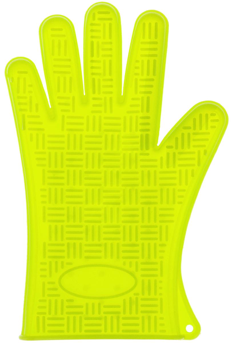 Прихватка-перчатка Mayer & Boch, силиконовая, цвет: салатовый, 27 х 18 см4427-2Прихватка-перчатка Mayer & Boch изготовлена из прочного цветного силикона. Она способна выдерживать температуру от -40°C до +220°С. Эластична, износостойка, влагонепроницаема, легко моется, удобно и прочно сидит на руке. С помощью такой прихватки ваши руки будут защищены от ожогов, когда вы будете ставить в печь или доставать из нее выпечку. Можно мыть в посудомоечной машине.