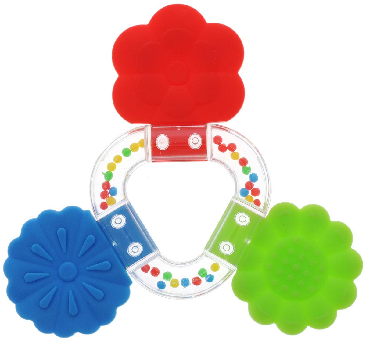 Stellar Погремушка-прорезыватель Букетик цвет красный зеленый синий1563_красный, зеленый, синийПрорезыватель - одна из важных игрушек на этапе младенчества. Он помогает разрабатывать жевательные навыки и мимику. Погремушка-прорезыватель Stellar Букетик - яркая и интересная игрушка, которая займет малютку на долгое время, а вам позволит отдохнуть. Центральная часть игрушки наполнена цветными шариками, которые весело шумят при встряхивании. Малыш с удовольствием будет исследовать новую форму, наслаждаясь красивыми цветами.