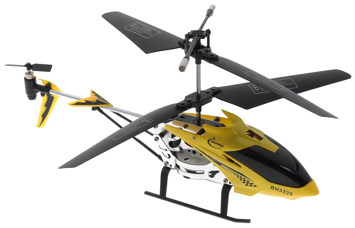 Властелин небес Вертолет на инфракрасном управлении Снайпер цвет желтый черныйBH 3328_желтыйВертолет на инфракрасном управлении Властелин небес Снайпер со встроенным гироскопом отлично подходит для полетов в закрытых помещениях. Гироскоп предназначен для курсовой стабилизации полета. В комплекте имеется пистолет, из которого можно стрелять по вертолету инфракрасными лучами. Дальность стрельбы из пистолета - до 12 метров. Вертолет небольшой и маневренный, он легко обходит препятствия, послушно следуя командам c пульта управления. Игрушка может летать вперед-назад, вверх-вниз, вращаться и совершать повороты. Вертолет оснащен световыми эффектами. Имеется возможность зарядки вертолета от пульта и USB-шнура (входит в комплект). Полностью заряженный вертолет летает 6-8 минут. Игрушка развивает многочисленные способности ребенка - мелкую моторику, пространственное мышление, реакцию и логику. Вертолет работает от встроенного аккумулятора. Для работы пульта управления необходимо купить 6 батареек напряжением 1,5V типа АА (в комплект не...