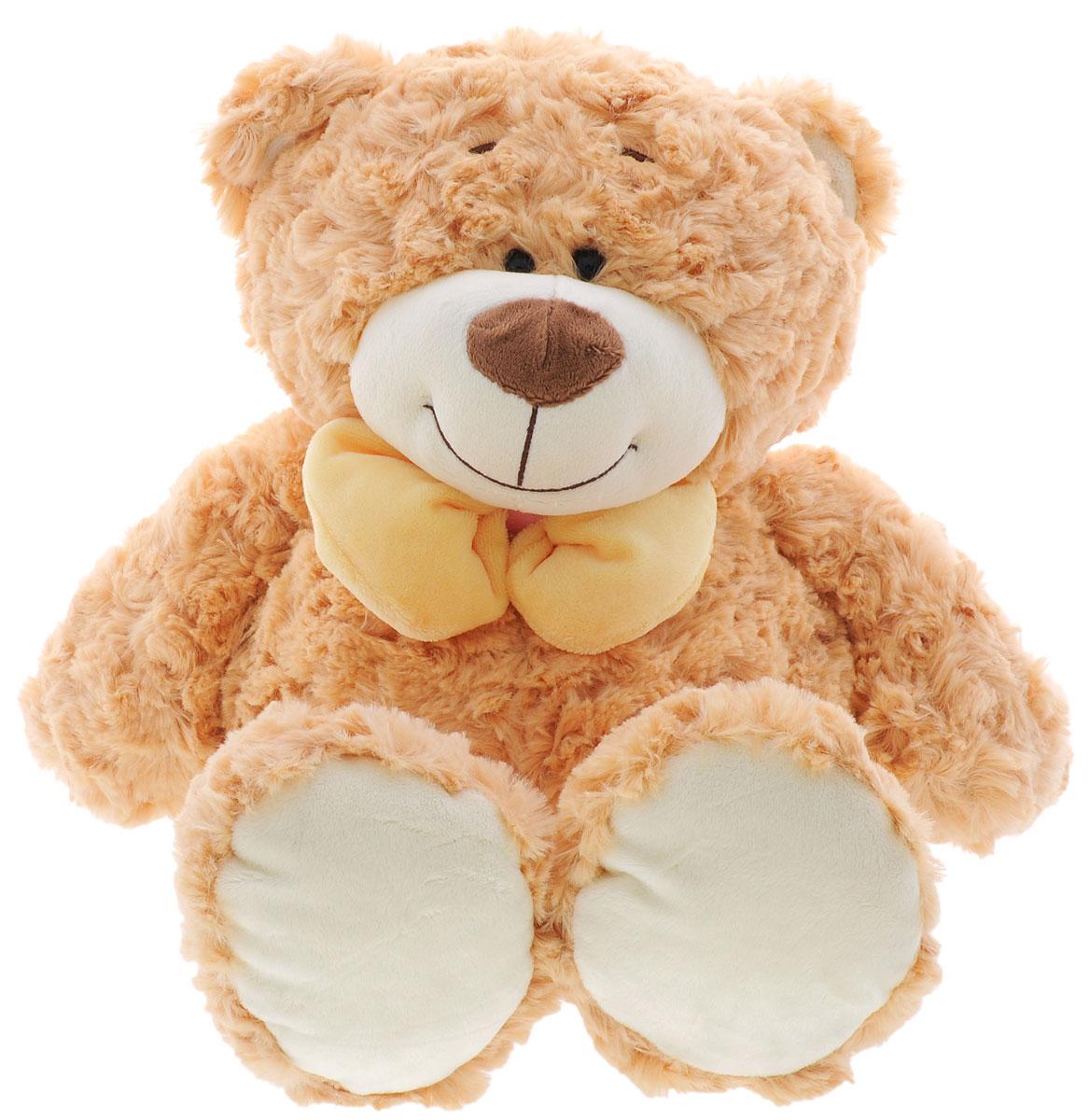 Plush Apple Мягкая игрушка Медведь с бантом цвет бежевый 39 смK71244A,А1_бежевыйИгрушка Plush Apple Медведь с бантом, выполненная в виде медвежонка с бантиком желтого цвета на шее, очарует не только ребенка, но и взрослого. Игрушка изготовлена из искусственного меха и текстильных материалов с элементами из пластика. В качестве набивки используются синтетические волокна, пластмассовые гранулы. Плюшевая игрушка Plush Apple Медведь с бантом поможет любому человеку выразить свои чувства и преподнести незабываемый, оригинальный подарок своим близким и любимым.
