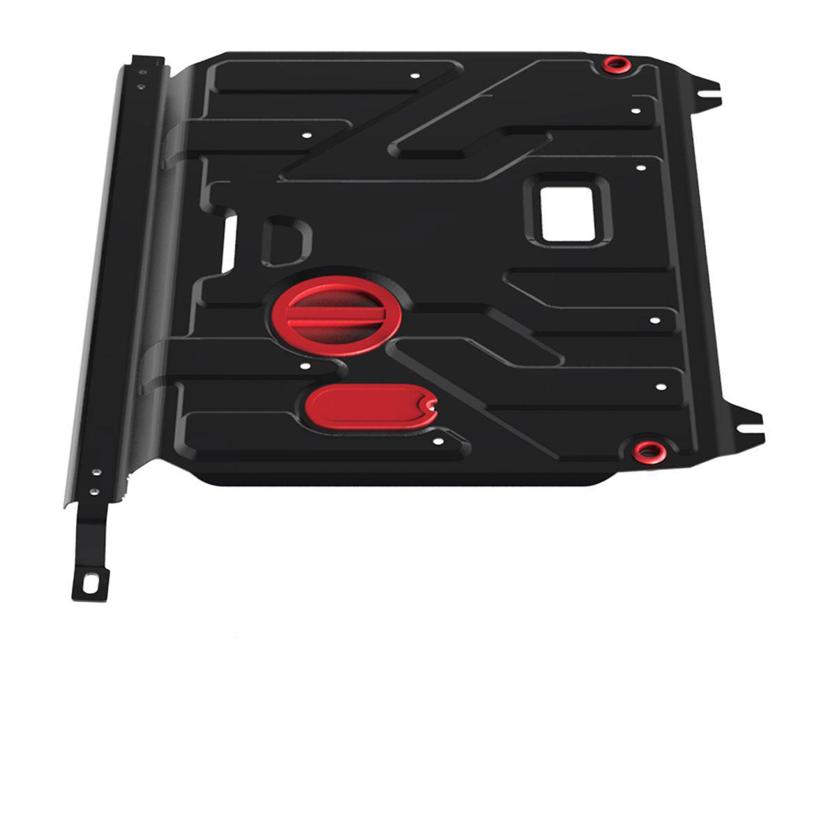 Защита картера и КПП Автоброня, для Hyundai Solaris V-1,4, 1,6 (2011-)/Kia Rio, V-все (2011-)111.02343.1Защита картера и КПП Автоброня выполнена из высококачественной стали с пластиковыми вставками. Глубокий штамп усиливает конструкцию. Защита оснащена отверстием с крышкой для слива масла, виброгасящими компенсаторами и отверстиями для слива воды. Толщина стали: 2 мм. В комплекте набор крепежа.