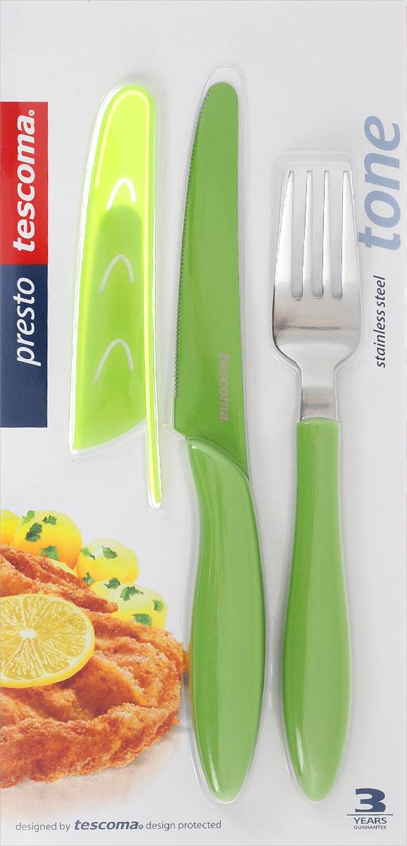 """Набор столовых приборов Tescoma """"Presto Tone"""", цвет: салатовый, 3 предмета. 863144 863144_салатовый"""
